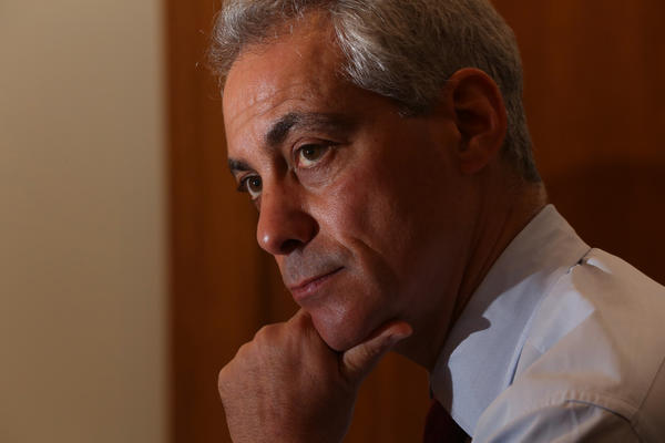 Mayor Rahm Emanuel speaks to the Tribune in his Chicago City Hall office Wednesday Sept. 25, 2013.