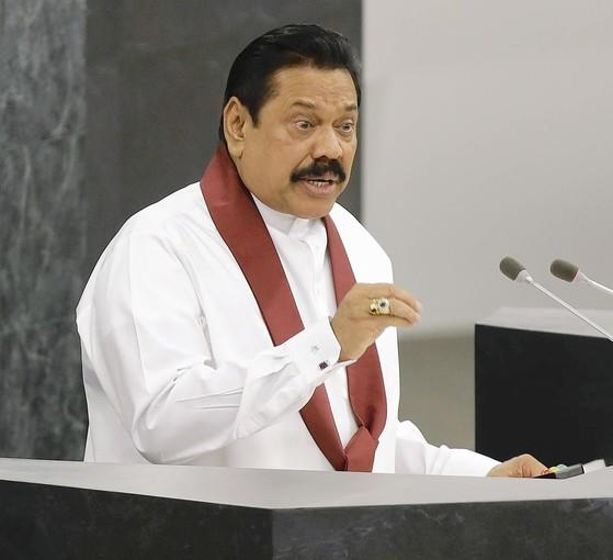 Mahinda Rajapaksa, the president of Sri Lanka, delivers his speech at the U.N. General Assembly in New York. In an interview later at his hotel, he deflected criticism of his government's rights record and said the U.N. and Western powers seemed bent on harassing Sri Lanka.