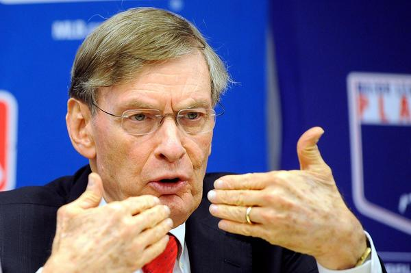 Major League Baseball Commissioner Bud Selig speaks at a news conference at MLB headquarters on November 22, 2011.