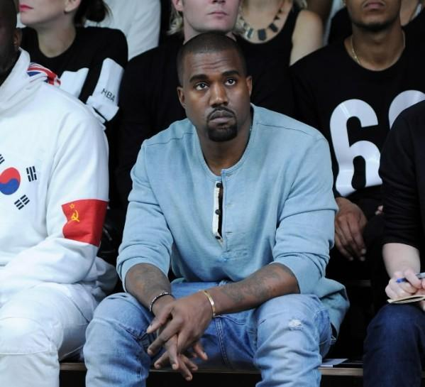 Rapper Kanye West attends the Hood by Air fashion show during MADE Fashion Week Spring 2014 at Milk Studios Sept. 8, 2013 in New York City.