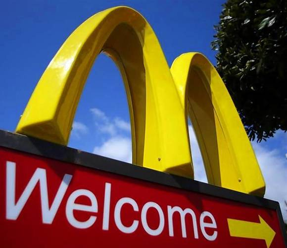 A McDonald's restaurant sign is seen at a McDonald's restaurant
