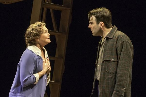"Cherry Jones and Zachary Quinto in ""The Glass Menagerie."""
