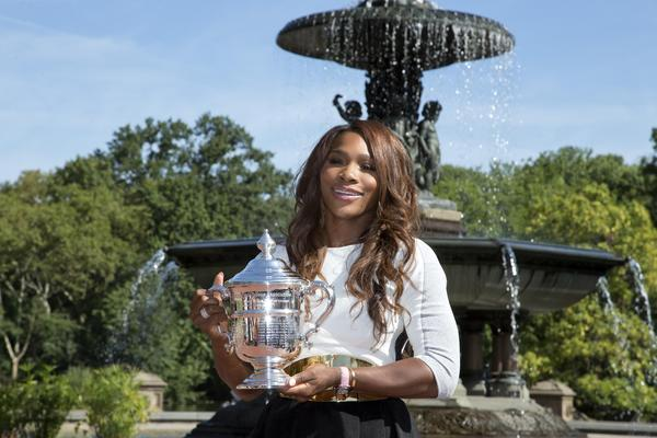 Serena Williams after winning the women's singles final in the 2013 U.S. Open.