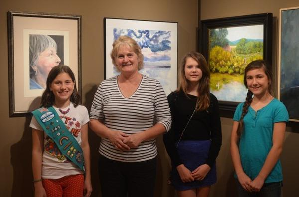 Petoskey Girl Scout Troop 10365 gives funds to the Crooked Tree Arts Center youth art program. Marty Samson (second from left) of Crooked Tree accepts the contribution from Girl Scouts (from left) Elena Sheperd, Olivia Nolff and Nadia Webster. Troop members not pictured, Megan Harris and Matilda Musser.
