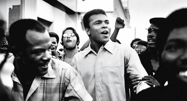 "Still from the movie ""The Trials of Muhammad Ali."""