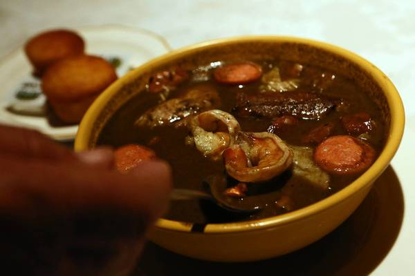 Happiness begins with a bowl of transcendent — even healthful — gumbo at Big Mama's Rib Shack in Pasadena.