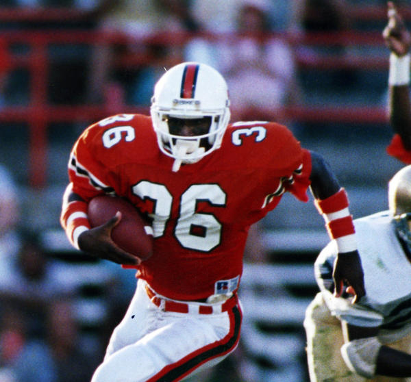 Hurricanes Bennie Blades (No. 36) is among six to be inducted in the Broward County Sports Hall of Fame.