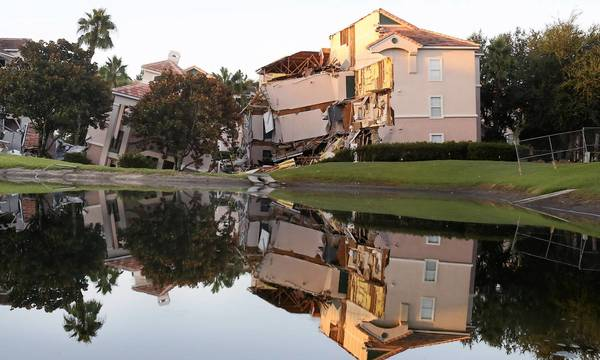 Summer Bay Resort after a sinkhole swallowed two building at the resort in August.