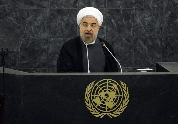 Iranian President Hassan Rouhani addresses a meeting on nuclear disarmament during the 68th United Nations General Assembly at the U.N. headquarters in New York City on Thursday.