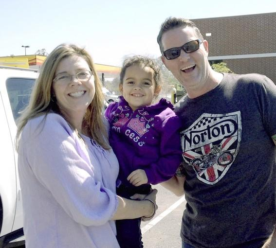 Veronica, the 4-year-old who was at the center of a long-running custody dispute, is shown with her adoptive parents, Melanie and Matt Capobianco.