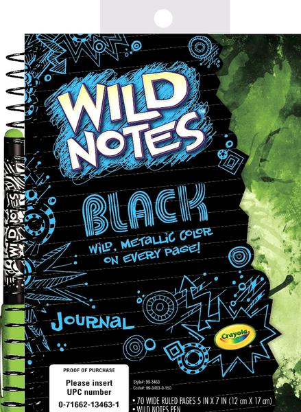 This notebook from Crayola lets travelers, young or old, create a livelier journal.