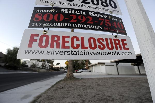 A Foreclosure sign