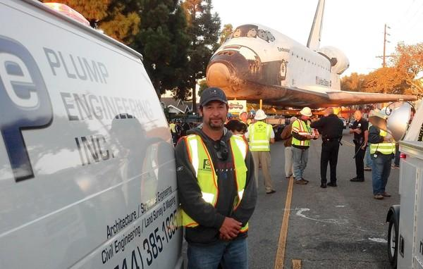 Richard Plump of Plump Engineering executed the logistics plan for space shuttle Endeavour's 12-mile move from Los Angeles International Airport to the California Science Center.