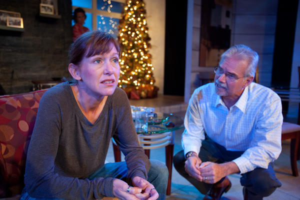 """Ginger Lee McDermott and Joe Candelora perform in """"Other Desert Cities"""" at Mad Cow Theatre."""