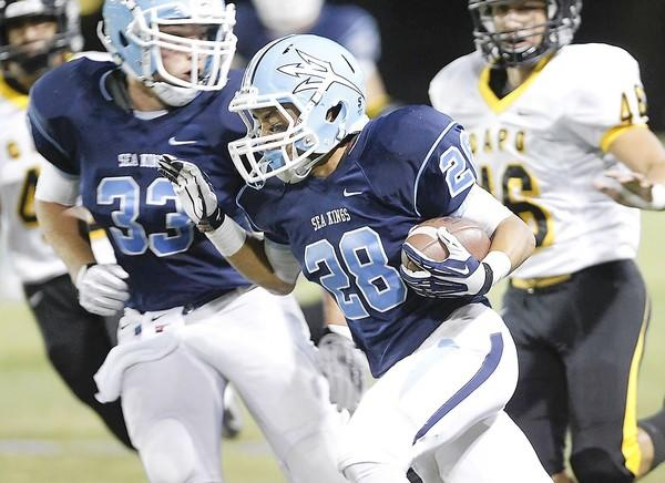 Anthony Battista ran for 153 yards and two touchdowns on 18 carries to help Corona del Mar High to a 43-14 win over Capistrano Valley.