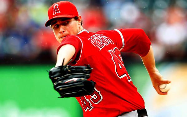 Angels starting pitcher Garrett Richards