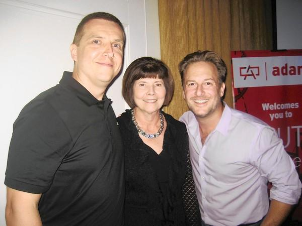 Haute in the City 2 event co-organizer Dean Rothrock (left), American Cancer Society Special Event Director Susan Christine and event emcee Chris Line from WZZO at the Sept. 18 event at the Cosmopolitan in Allentown, which raised funds for local cancer patients.