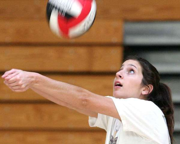 ARCHIVE PHOTO: Flintridge Sacred Heart Academy Jenna Orlandini continues to solidify the University of Washington women's volleyball team as a senior.