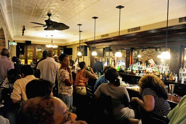 The bar at Phaze 10, a new BBQ and jazz lounge in Mount Vernon.