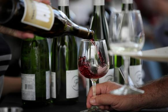 Wine from Old Bridge Cellars is presented for tasters at the annual Chicago Gourmet on Sept. 28.