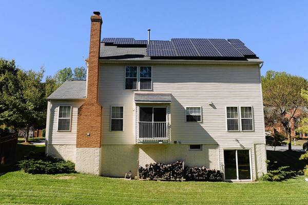 Solar panels adorn the roof on Chip Gribben's West Laurel home, which is included on a regional tour of 50 solar-powered homes this weekend.