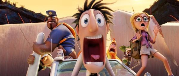 """Cloudy with a Chance of Meatballs 2"" was the No. 1 film at the box office this weekend, beating ""Rush,"" ""Don Jon"" and ""Baggage Claim"""
