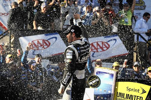 Jimmie Johnson got the victory at Dover.