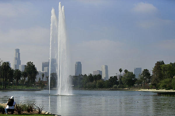 Echo Park Lake is part of the area declared off-limits to several gangs.