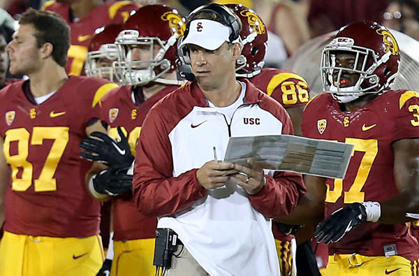 Lane Kiffin had few answers in a 10-7 loss to Washington State in the second game of the season and Pac-12 Conference opener at the Coliseum.