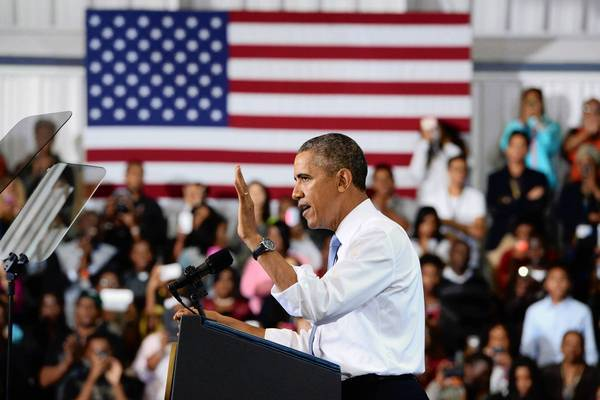 President Obama talks about the new healthcare law at an appearance in Maryland last week.