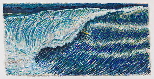 "The Los Angeles Public Library's ""Moby-Dick"" celebration is illustrated by artwork by Raymond Pettibon: ""No Title (His transformation is),"" 2009."