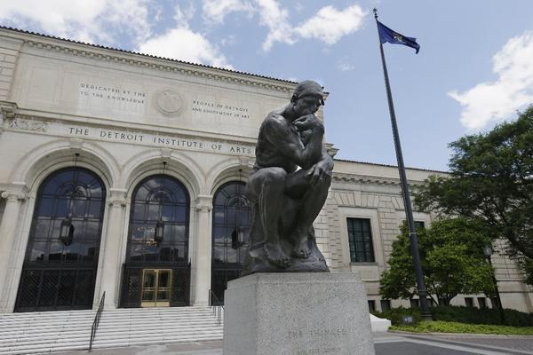 "The Detroit Institute of Arts acquired a cast of Rodin's ""The Thinker"" in 1922."
