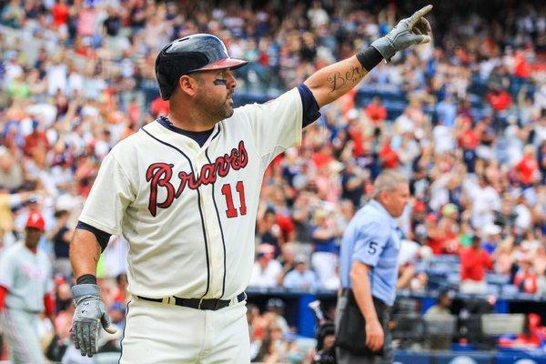 """We get no respect from anyone,"" Braves catcher Gerald Laird says."