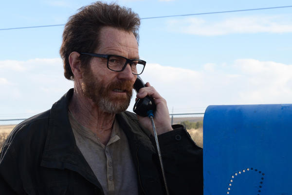 "Walter White (Bryan Cranston) in the finale of ""Breaking Bad."""