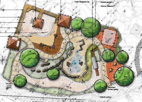 The Fort Payne Learning Playscape at Naper Settlement will include a climbing feature, trading post, butterfly garden and water feature.
