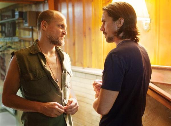 "Woody Harrelson, left, and Christian Bale in ""Out of the Furnace."""