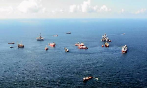 The Macondo oil spill site in the Gulf of Mexico.