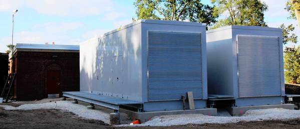 Two generators have been installed at the Highland Park water treatment plant.