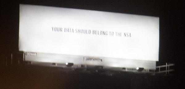 Silicon Valley is wondering who put this billboard up along highway 101 in south San Francisco.