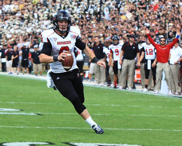 NIU quarterback Jordan Lynch took MAC West offensive player of the week honors for the third time.