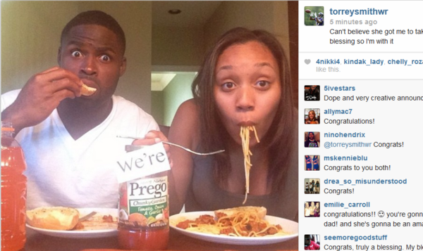 Ravens wide receiver Torrey Smith and his wife, Chanel, took to Instagram to announce that they're expecting.
