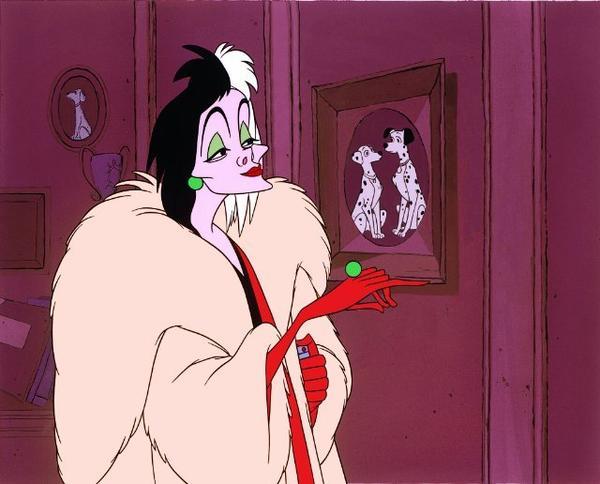 """Cruella de Vil in 1961's """"101 Dalmatians."""""""