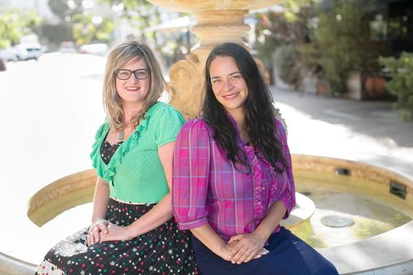 "Nicole Stevenson, left, and Delilah Snell, creators of the ""Patchwork"" shows, introduce an ""Edible Edition"" in Costa Mesa on Saturday and Sunday."