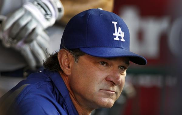 Dodgers Manager Don Mattingly's laid-back demeanor often disappears once a game starts.