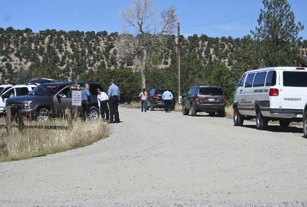 Chaffee County, Colo., emergency agencies set up a command center near the trail to Agnes Vaille Falls. Five hikers were killed when they were buried by a rock slide along the trail, officials said.