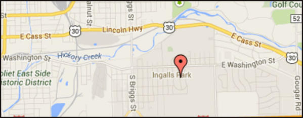 Map of location of murder-suicide near suburban Joliet.