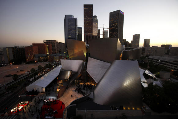 A gala was held at the Walt Disney Concert Hall on Monday night in honor of the building's 10-year anniversary.