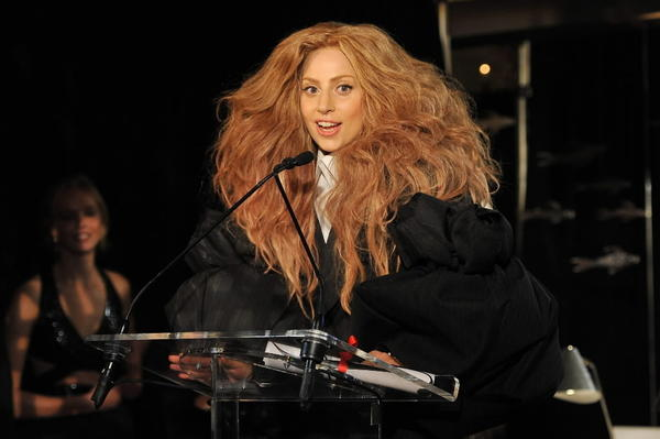 Lady Gaga speaks at The Daily Front Row's Fashion Media Awards at Harlow on Sept. 6, 2013 in New York City.