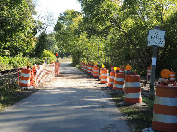 The section of the Little Traverse Wheelway over Tannery Creek will remain open during the building of a clear-span bridge. The construction project is expected to take six weeks.