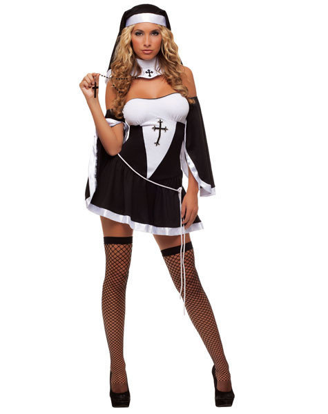 Sexy, adult Halloween costumes - Nun